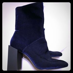 Navy blue Corduroy booties